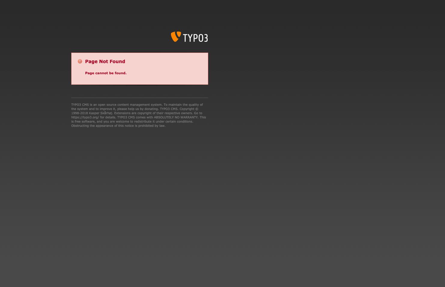 Screenshot wirklich schlechten 404-Seite vom 2.1.2021