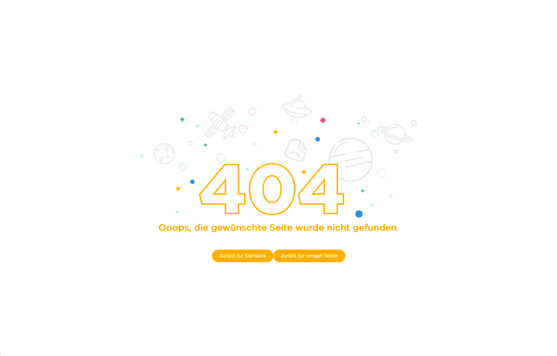 Screenshot nicht ganz gelungenen 404-Seite vom 2.1.2021