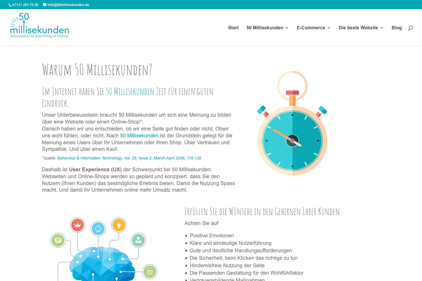 Eine Webseite von 50 Millisekunden mit Ersatzschriftarten